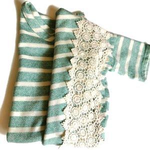 Charlotte Russe Crop Top Lace Detail Large